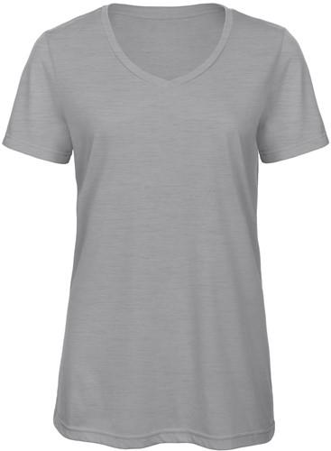B&C TW058 V Triblend Dames T-shirt - Heather light Grijs - XXL-XXL-Heather light Grijs