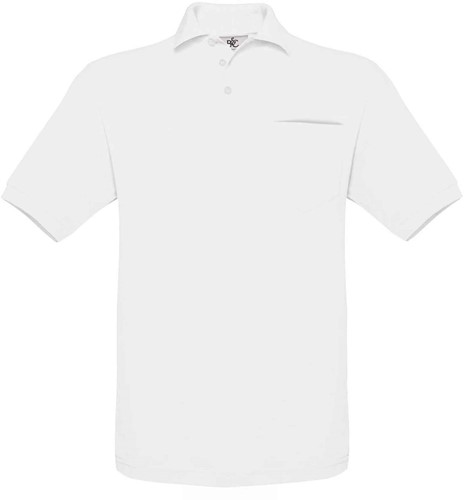B&C Safran TT Pocket Polo-Wit-M