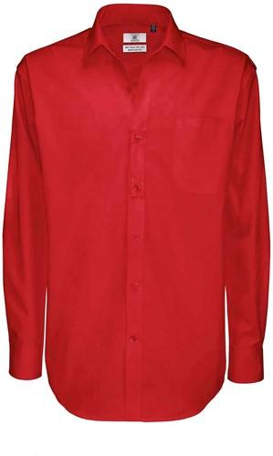 B&C BCSMT81 Sharp Long Sleeve Heren Overhemd-S-Diep Rood