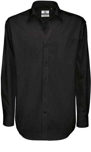 B&C Sharp LSL Heren Overhemd-Zwart-S