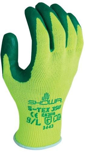 Showa S-TEX 350 Snijbestendige handschoen GeelGroen-7-S