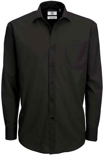 B&C Smart LSL Heren Overhemd-Zwart-S