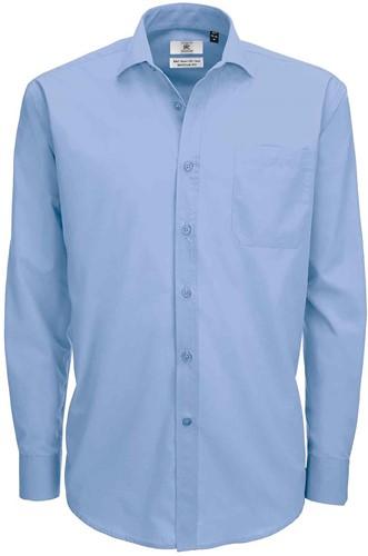 B&C BCSMP61 Smart Long Sleeve Heren Overhemd-S-Business blauw