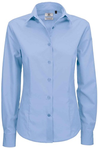 B&C Smart LSL Dames Blouse-XS-Business blauw