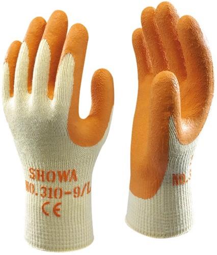 Showa 310 Oranje Werkhandschoen latex-7-S