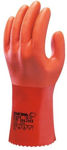 Showa 610 Werkhandschoen PVC Oranje-7-S
