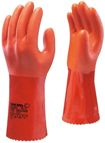 Showa 620 Werkhandschoen PVC Oranje-7-S