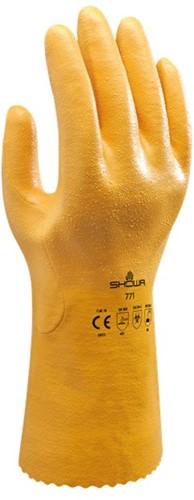 Showa 771 Werkhandschoen Nitrile Geel-8-M