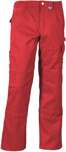 PKA Threeline-Perfekt Werkbroek - rood