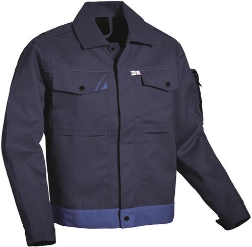 PKA Threeline-Perfekt Werkjas - hydronblauw
