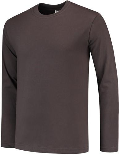 Tricorp TL190 T-Shirt Lange Mouw - Donker grijs - XS-Donker grijs-XS