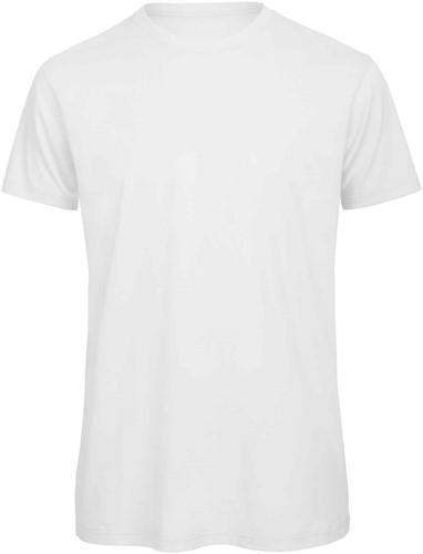 B&C TM042 Heren T-shirt-Wit-S