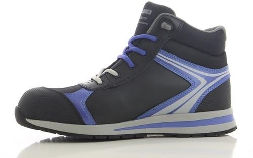 Safety Jogger Toprunner S1P Metaalvrij - Zwart/Paars [UITLOPEND]-2