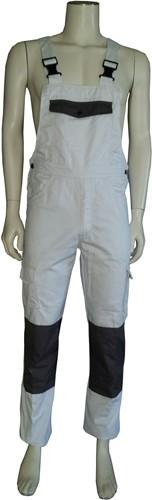 WW4A Tuinbroek Katoen/Polyester - Wit/Grijs