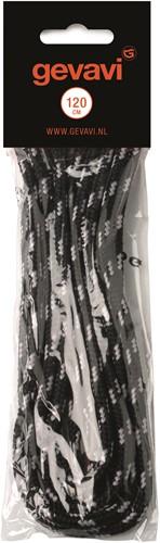 Gevavi Veters Rond - zwart (10 Paar)-65 cm