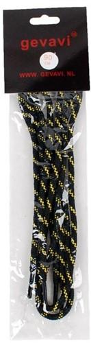 Gevavi Veters rond - zwart/geel (10 paar)-90cm