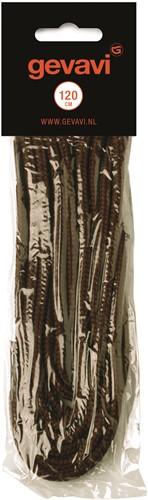 Gevavi Veters Rond - bruin (10 Paar)-120 cm