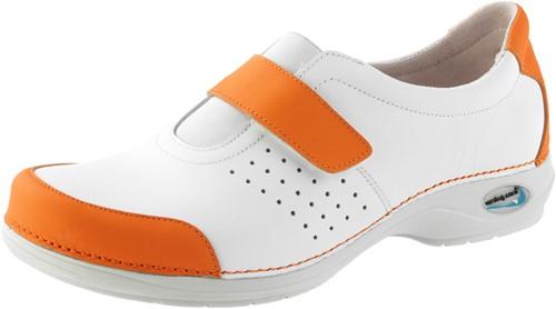 Wash&Go Clog Gesloten wit/oranje-35