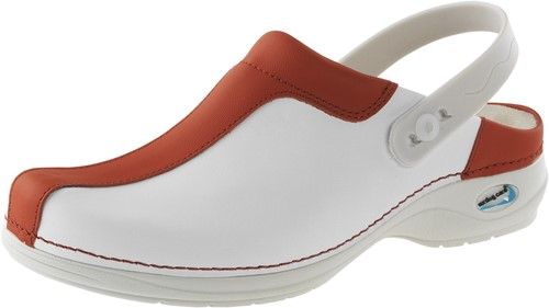 Wash&Go Clog Open - wit/rood-35