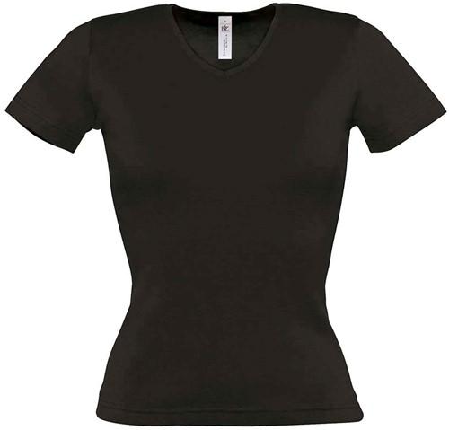 B&C Watch Dames T-shirt-Zwart-XS