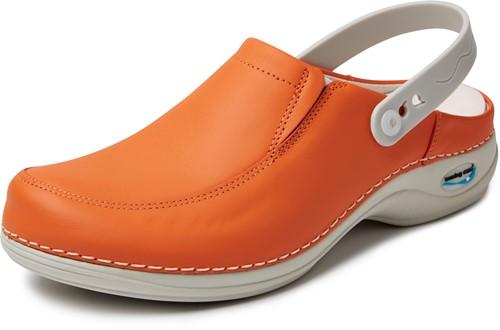 Wash&Go Clog open met elastiek - oranje-36