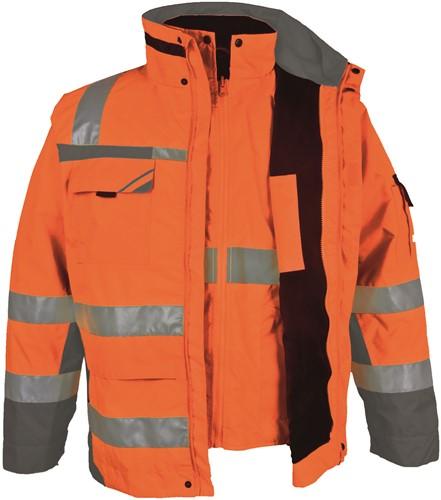 PKA Winter Signaal Parka 3in1-Oranje/Grijs-S-1