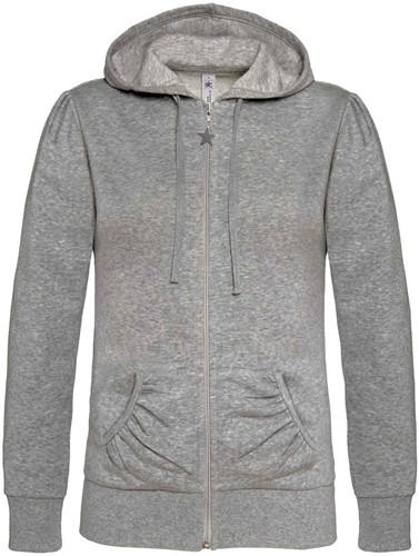 B&C Wonder Dames Sweater-XS-Heather Grijs