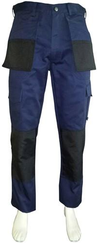 WW4A Werkbroek Polyester/Katoen - Navy/Zwart