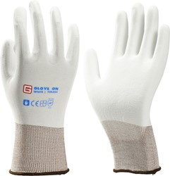Glove On White Touch