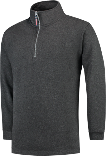 Tricorp ZS280 Sweater Ritskraag-XS-Antracite Melange