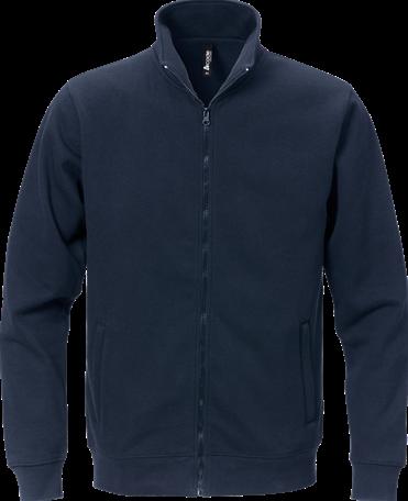 SALE! Acode 122215-544 Sweater met volledige rits - Donker marineblauw - 3XL