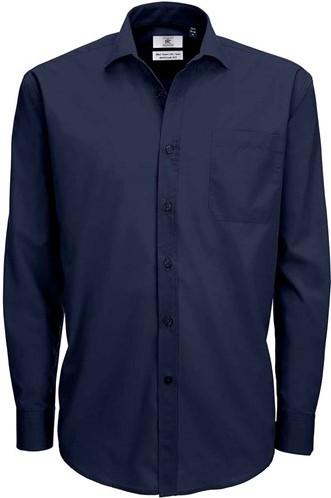 SALE! B&C 1005999 Smart LSL Heren overhemd - Navy - Maat 4XL
