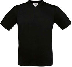 OUTLET! B&C Exact V-Neck T-shirt - Zwart - L