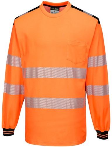 Portwest T185 PW3 Hi-Vis T-Shirt  L/S