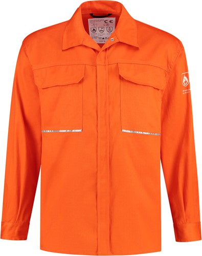WW4A Blouse vlamvertragend AS - Oranje - Maat XS