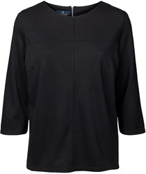 Clipper Corporate Dames blouse drie kwart mouw - 109 | Zwart