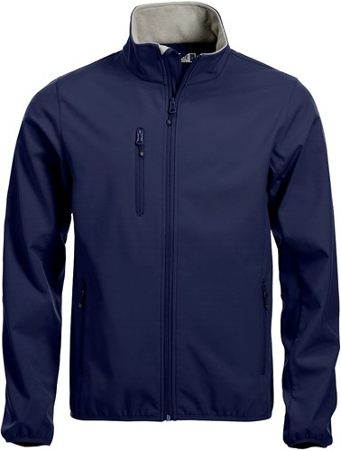 SALE! Clique 020910 Basic Softshell jacket heren - Dark Navy - Maat 2XL
