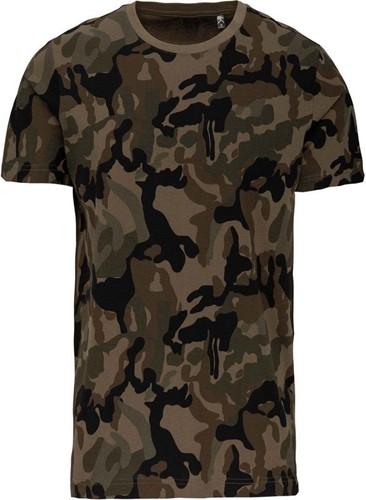 Kariban K3030 T-shirt camo korte mouwen