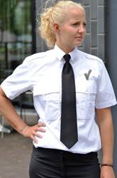 Dames Pilot shirt + V teken - KM Wit