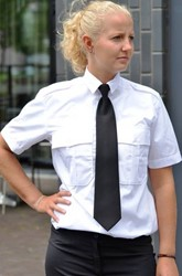 Dames Pilot shirt - KM Wit