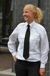 OUTLET! Dames Pilot shirt - Wit - Maat 40
