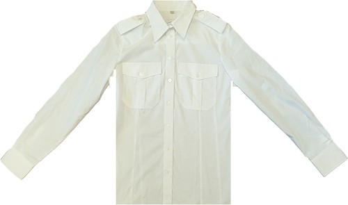 SALE! Qrap Pilotshirt Lange Mouwen - Wit - Maat 36
