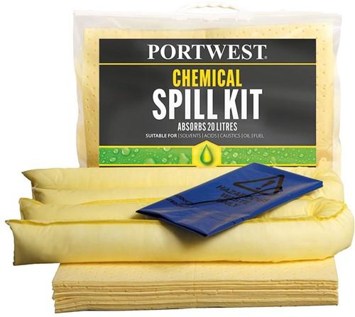Portwest SM90 Spill Chemical Kit 20L  (6 stuks)
