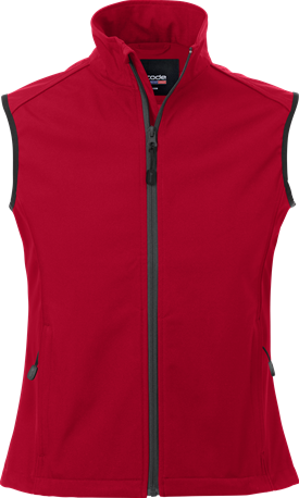 Acode Dames softshellvest-Rood-S