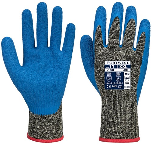 Portwest A611 Aramid HR Cut Latex Glove