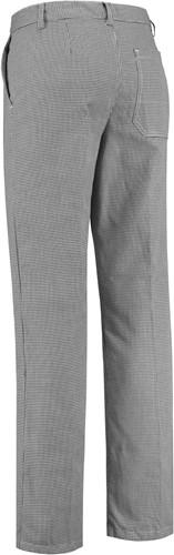 WW4A Bakkersbroek Polyester/Katoen - wit/zwart  - 38-38