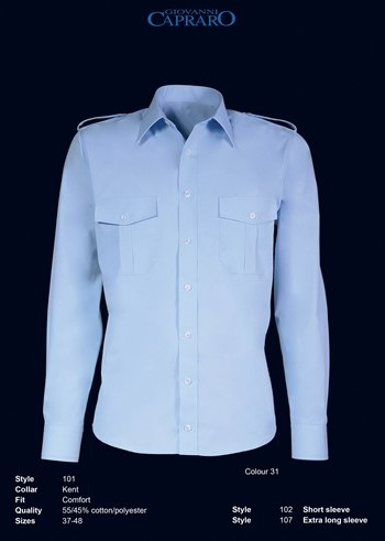 Maat 44 Overhemd.Outlet Giovanni Capraro 102 31 Pilot Overhemd Maat 44 Workwear4all