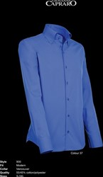 Giovanni Capraro 900-37 Overhemd - Donker Blauw - Maat L