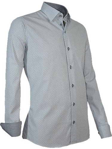 Overhemd Xl.Outlet Giovanni Capraro 938 12 Overhemd Grijs Maat Xl Workwear4all