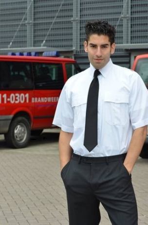 ACTIE 4+1 GRATIS! Heren Pilot shirt - KM Wit (Slim Fit 2.0)